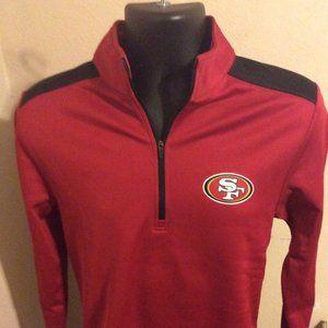 Team Apparel San Francisco 49ers 1/4 Zip Pullover